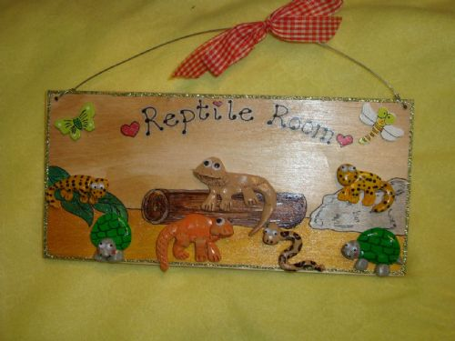 Large Reptile Vivarium Terrarium  Room Sign Any Creatures Up to 7 Characters Handmade Unique Plaque personalised